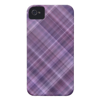 Purple plaid pattern iPhone 4 covers