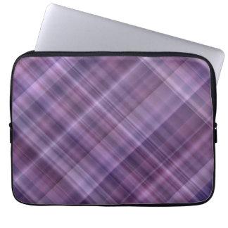 Purple plaid pattern laptop sleeve