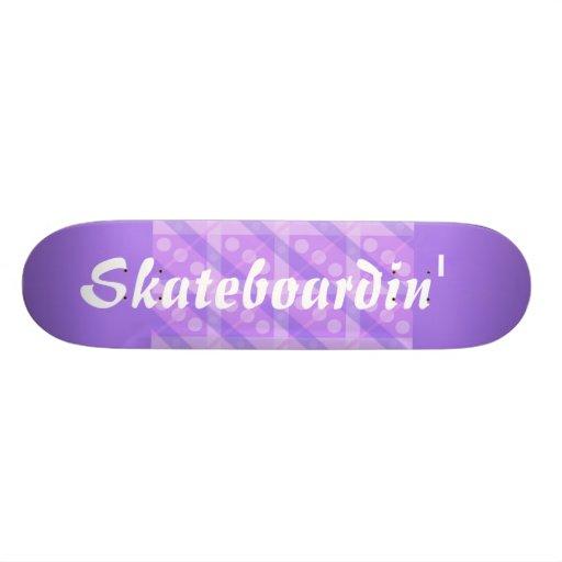 Purple Plaid Skateboard