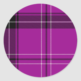 Purple Plaid Stickers