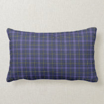 Purple Plaid Style Lumbar Cushion