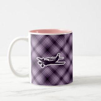 Purple Plane Two-Tone Mug