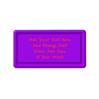 Purple Plastic Label Template Address Label
