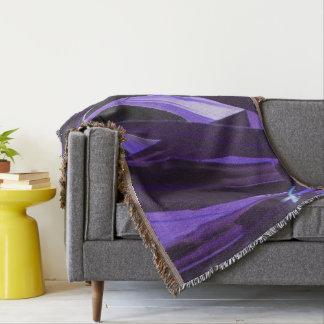 Purple Please Throw Blanket