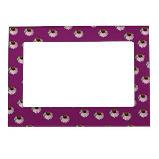 Purple Plum Crazy Daisy Magnetic Picture Frames