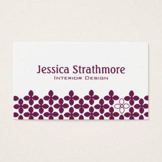 Purple Plum Floral Business Card