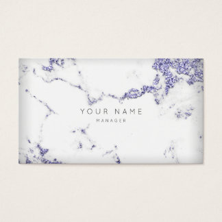 Purple Plum White Gray Carrara Marble Appointment Business Card