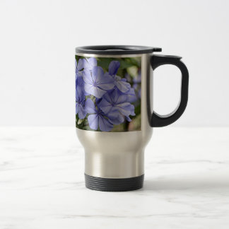Purple Plumbago flowers in bloom Stainless Steel Travel Mug