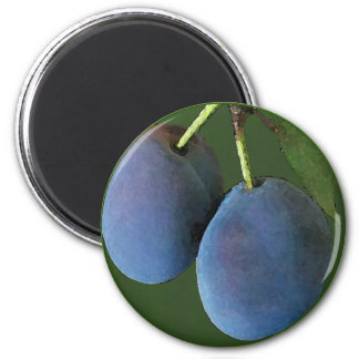 Purple Plums Watercolor - Magnet