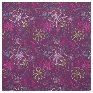 Purple Poinsettia Fabric