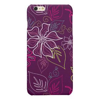 Purple Poinsettia iPhone 6 Plus Case