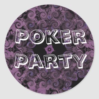 Purple Poker Party Stickers