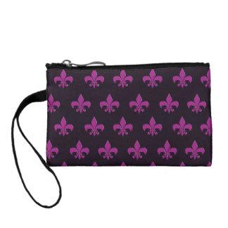 Purple polka dot and shape design coin purse