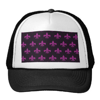 Purple polka dot and shape design trucker hat
