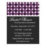 Purple Polka Dot Bridal Shower Invitations
