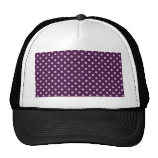Purple Polka Dot Cap