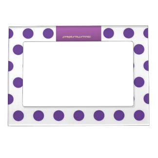 Purple Polka Dot Congratulations Magentic Frame