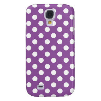 Purple Polka Dot Galaxy S4 Case