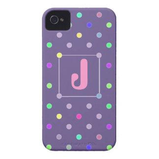 Purple Polka-dot iphone4/4s Id case