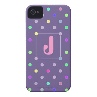 Purple Polka-dot iphone4/4s Id case Case-Mate iPhone 4 Cases