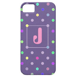 Purple Polka-dot iphone4 Id case