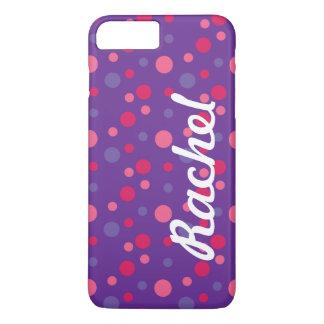 Purple polka dot iPhone 7 Plus case