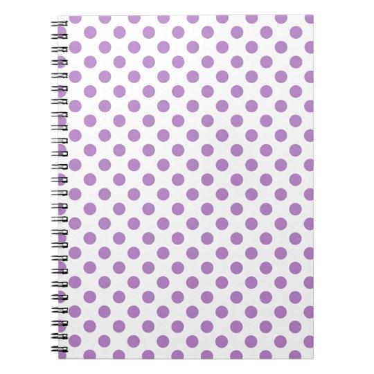 Purple Polka Dot Notebook