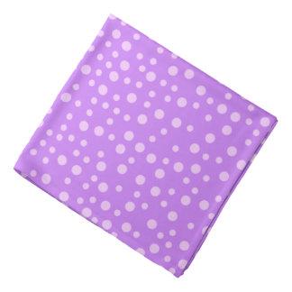 Purple Polka Dot Pattern Bandana