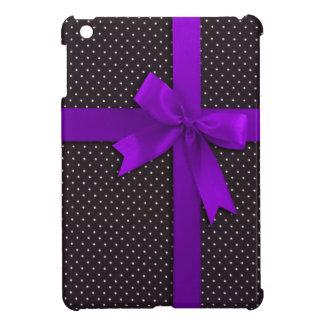 Purple Polka Dot Ribbon Cover For The iPad Mini