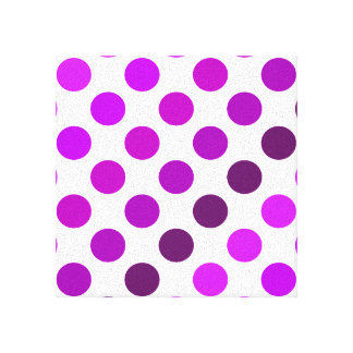 Purple Polka Dot Stripes Gallery Wrapped Canvas