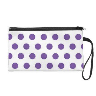 Purple Polka Dot  Wrist Bag