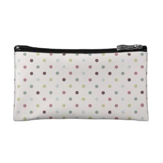 Purple Polka Dots Bag Makeup Bag