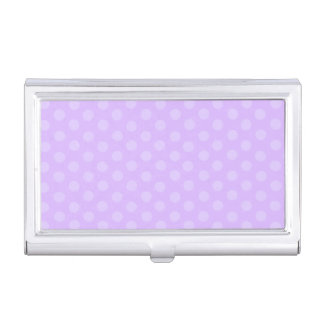 Purple Polka Dots Business Card Holder