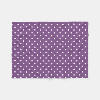 Purple Polka Dots Fleece Blanket