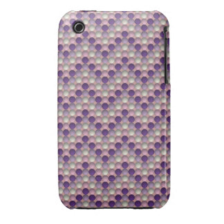 Purple Polka Dots In Zig Zag Pattern Case-Mate iPhone 3 Cases