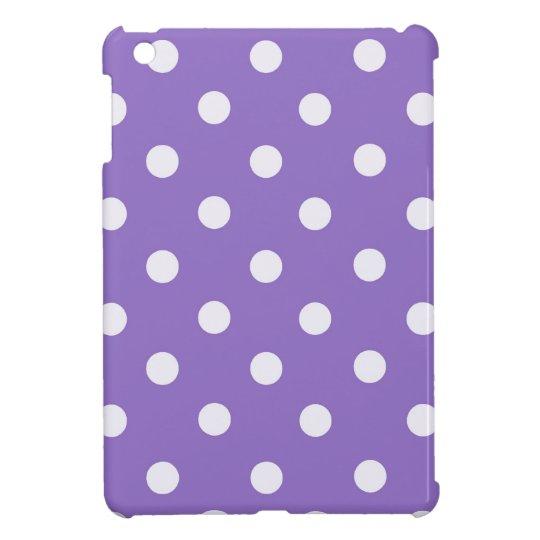 Purple Polka Dots iPad Mini Cover