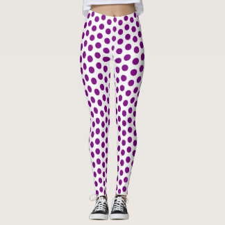 Purple Polka Dots Leggings