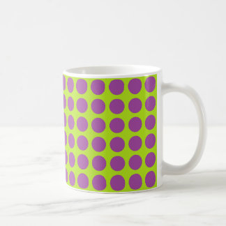 Purple Polka Dots Lime Green Coffee Mug