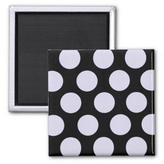 Purple Polka Dots Square Magnet
