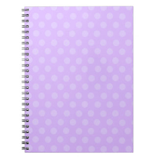Purple Polka Dots Notebook