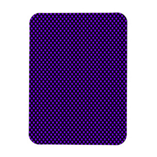 Purple Polka Dots on Black Rectangular Photo Magnet