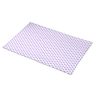 Purple Polka Dots on White Placemats