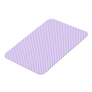 Purple Polka Dots on White Rectangular Photo Magnet