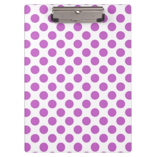 Purple polka dots pattern clipboard