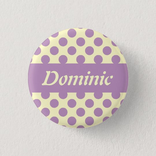 Purple Polka Dots Personalised Pinback Buttons
