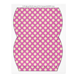 Purple Polka Dots Pillow Puff Box Template Full Color Flyer