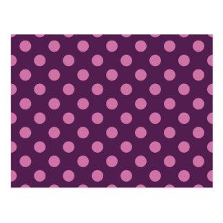 Purple Polka Dots Post Cards