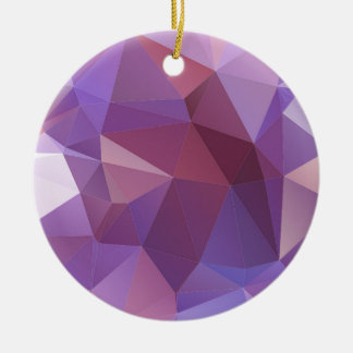 Purple Polygon Customisable Christmas Ornament