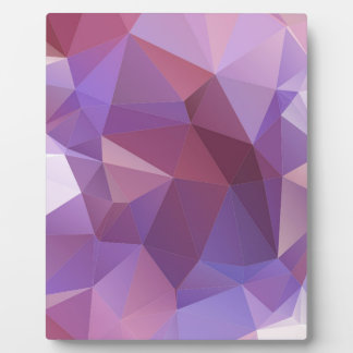 Purple Polygon Customisable Plaque