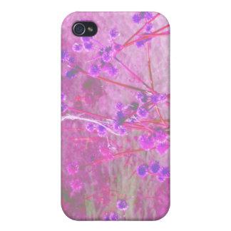Purple pond plants background iPhone 4/4S cases
